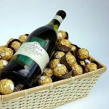 wine gift baskets delivered wine ferrerorocher chocolates gift basket basket ideas we can