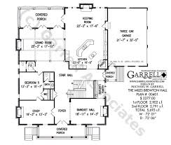 colonial style floor plans house plans with few hallways brewton house plan