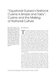 Guinea Ecuatorial Flag Equatorial Guinea U0027s National Cuisine Is Simple And Tasty Cuisine