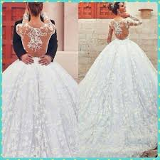 Designer Wedding Dresses Online Discount New Arrival Ball Gown Wedding Dresses Bateau Sheer