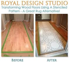 how to paint and stencil hardwood floors royal design studio