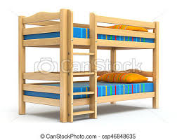 Bunk Bed Drawing Bunk Bed 3d Illustration Drawings Search Clipart