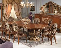 classic dining room with brown furniture idea for super luxury