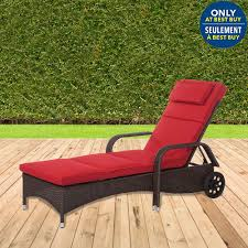 Best Buy Patio Furniture tropea chaise patio lounge chair with back wheels candy red