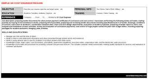 sr cost engineer cover letter u0026 resume