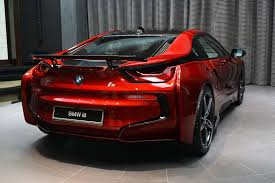 red bmw lava red bmw i8 built for a princess in abu dhabi supercar report