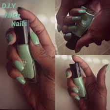 easy d i y false nails no acrylic youtube