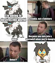 Snickers Commercial Meme - user blog pgrobban werewolf cookie should be in a commercial