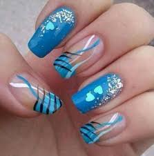 cute and simple blue nail art design and ideas katty nails