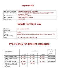 Rohini Metro Map by Book The Great Rohini Half Marathon 2016 Tickets New Delhi