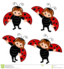 ladybug costume cartoon stock vector image 65902742