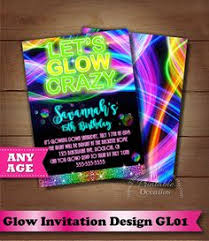 hashtag neon party birthday party invitation birthday glow in the birthday party invitations neon black