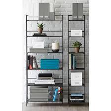 6 shelf iron folding bookshelf the container store