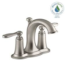 Price Pfister 910 031 by Pfister Avalon 4 In Centerset 2 Handle Bathroom Faucet In Brushed