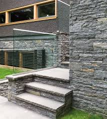 62 best stone veneer stairs images on pinterest stairs stone