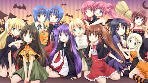 little busters with halloween costumes japanese video game
