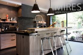 cuisine en bois moderne charming separation vitree cuisine salon 15 cuisine moderne