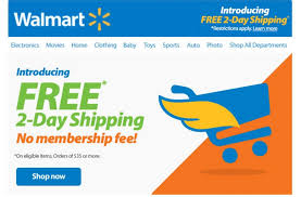 walmart takes on amazon launches free 2 day shipping for all