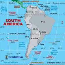 south america map around the world south america