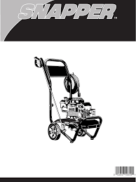snapper pressure washer 020229 user guide manualsonline com