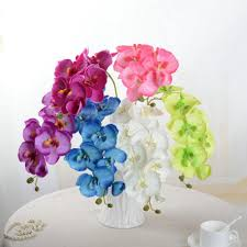 wholesale artificial butterfly orchid silk flower bouquet