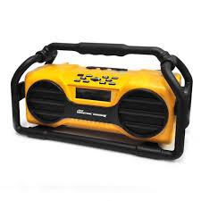 pyle pjsr350yl industrial boombox rugged bluetooth speaker