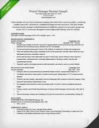 Sample Resume Of Project Coordinator Project Manager Resume Templates It Project Manager Resume