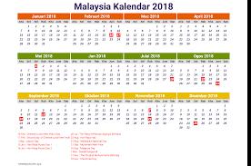 Kalender 2018 Hd Printable Kalender 2018 Malaysia Hd Free Printable