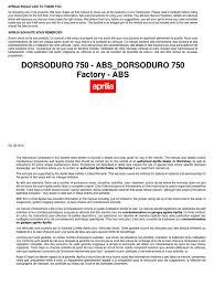 dorsoduro 750 service manual eng internal combustion engine