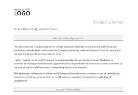 Authorization Letter For Bank Deposit Format direct deposit form template direct deposit form