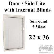 Exterior Door Window Inserts Windows With Blinds Entry Door Half Lite