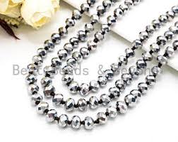 long silver crystal necklace images Extra long necklace etsy jpg