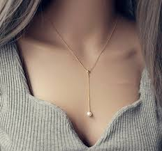 pearl necklace silver chain images New arrival white single pearl necklace for women fashion silver jpg