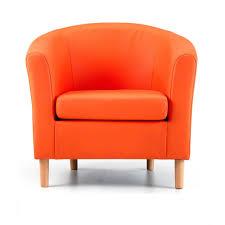 Orange Armchair Nicole Orange Faux Leather Tub Chair U2013 Next Day Delivery Nicole