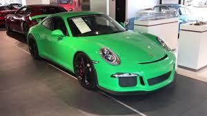 porsche 911 cpo 2015 porsche cpo 911 gt3 paint to sle signal green with kirk
