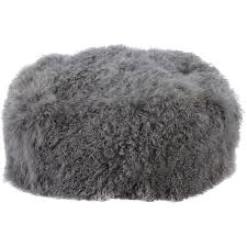 grey sheepskin bean bag 60x60x40cm living room home tk maxx