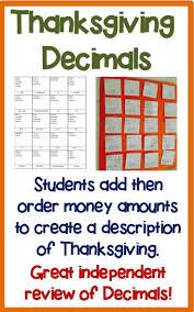 thanksgiving math activities best 25 ordering decimals ideas on pinterest comparing decimals