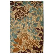 Patio Area Rugs Mohawk Home Garden Multi 5 Ft X 8 Ft Printed Outdoor Patio