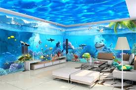 wall theme underwater themed bedroom room wallpaper custom non woven murals