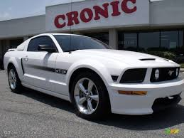 07 mustang gt cs 2007 performance white ford mustang gt cs california special coupe