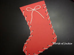 world of jackie designs paper stocking craft