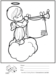 printable 17 precious moments angel coloring pages 7361 precious