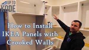 ikea kitchen cabinet filler panels how to install ikea fridge gables panels with crooked walls floor