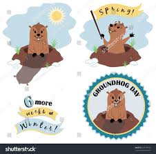 vector groundhog day illustration set stock vector 239178760