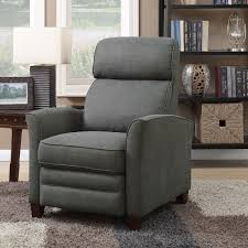 synergy grey fabric pushback recliner armchair costco uk