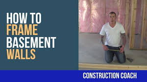 how to frame basement walls diy youtube
