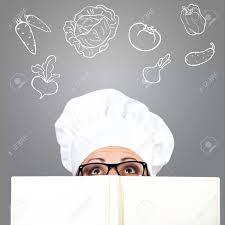 recherche chef de cuisine femme dans le chapeau de chef de la recherche sur le livre de