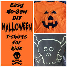 Two Diy Halloween T Shirts For Kids Run Dmt