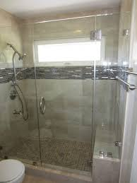 glass shower enclosure with enduroshield patriot glass and