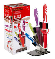 5 piece knife set with stand 001051